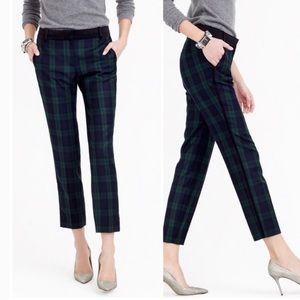 J. Crew Wool Polyamide Elastane Plaid Pants Size 4